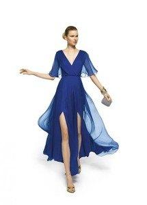 pronovias-vestidos-de-fiesta-2013-color-azul-con-mangas